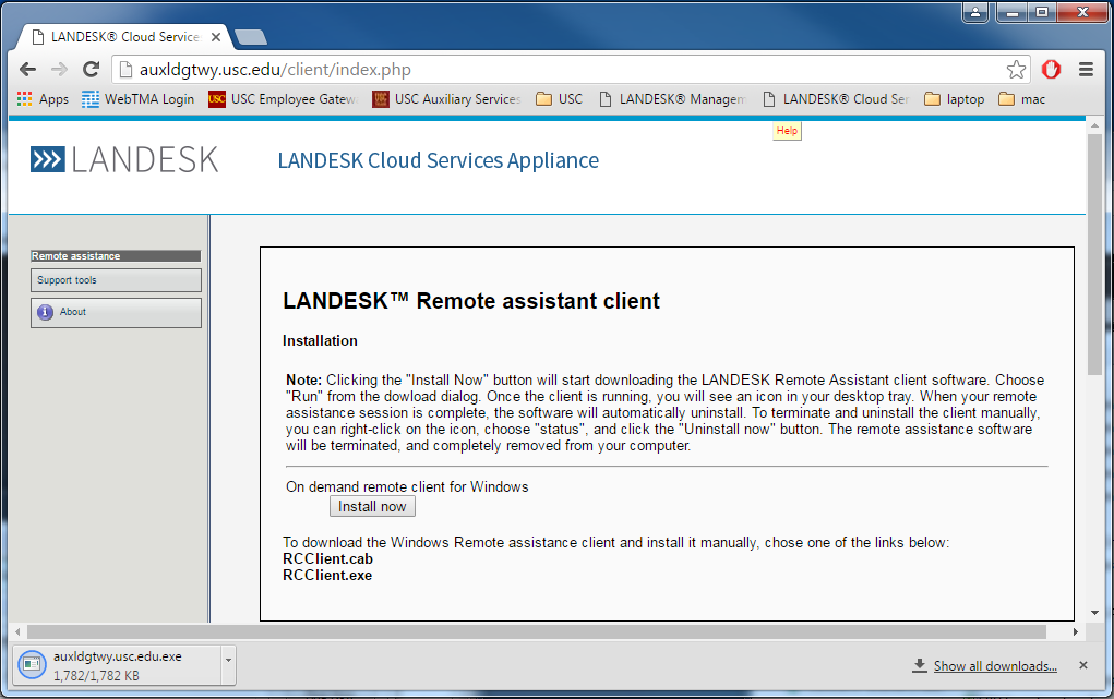 Enjoyable Landesk Remote Control Usc Auxiliary Services It Download Free Architecture Designs Oxytwazosbritishbridgeorg